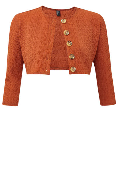 TERRACOTTA SEERSUCKER CARDIGAN