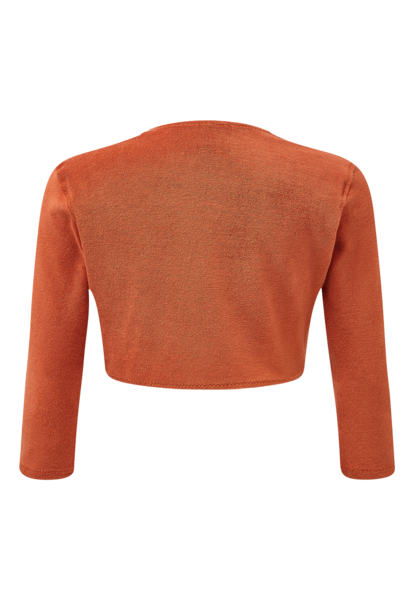 TERRACOTTA TERRY CLOTH CARDIGAN