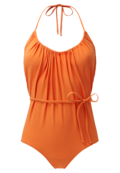 CHARLOTTE ORANGE DRAWSTRING MAILLOT
