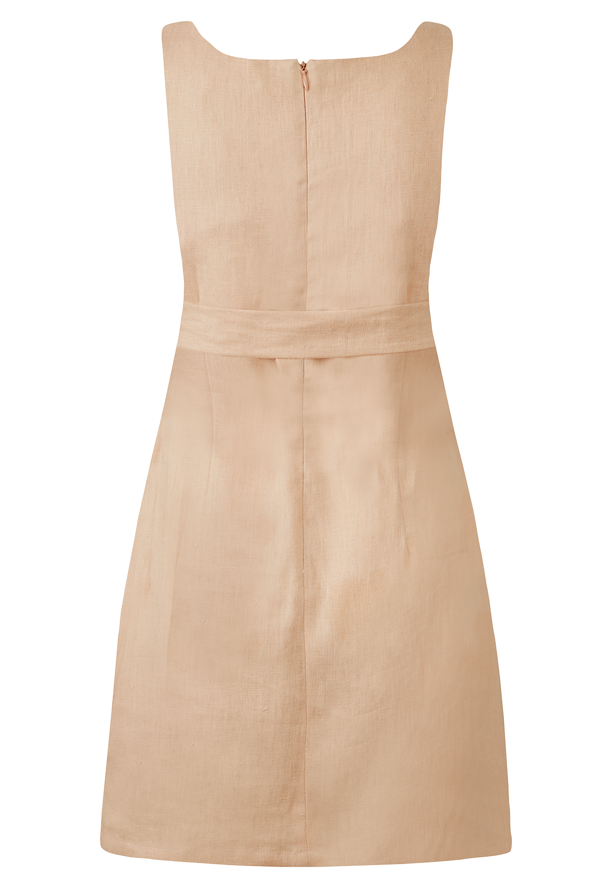 CHARLOTTE BLUSH LINEN MINI DRESS