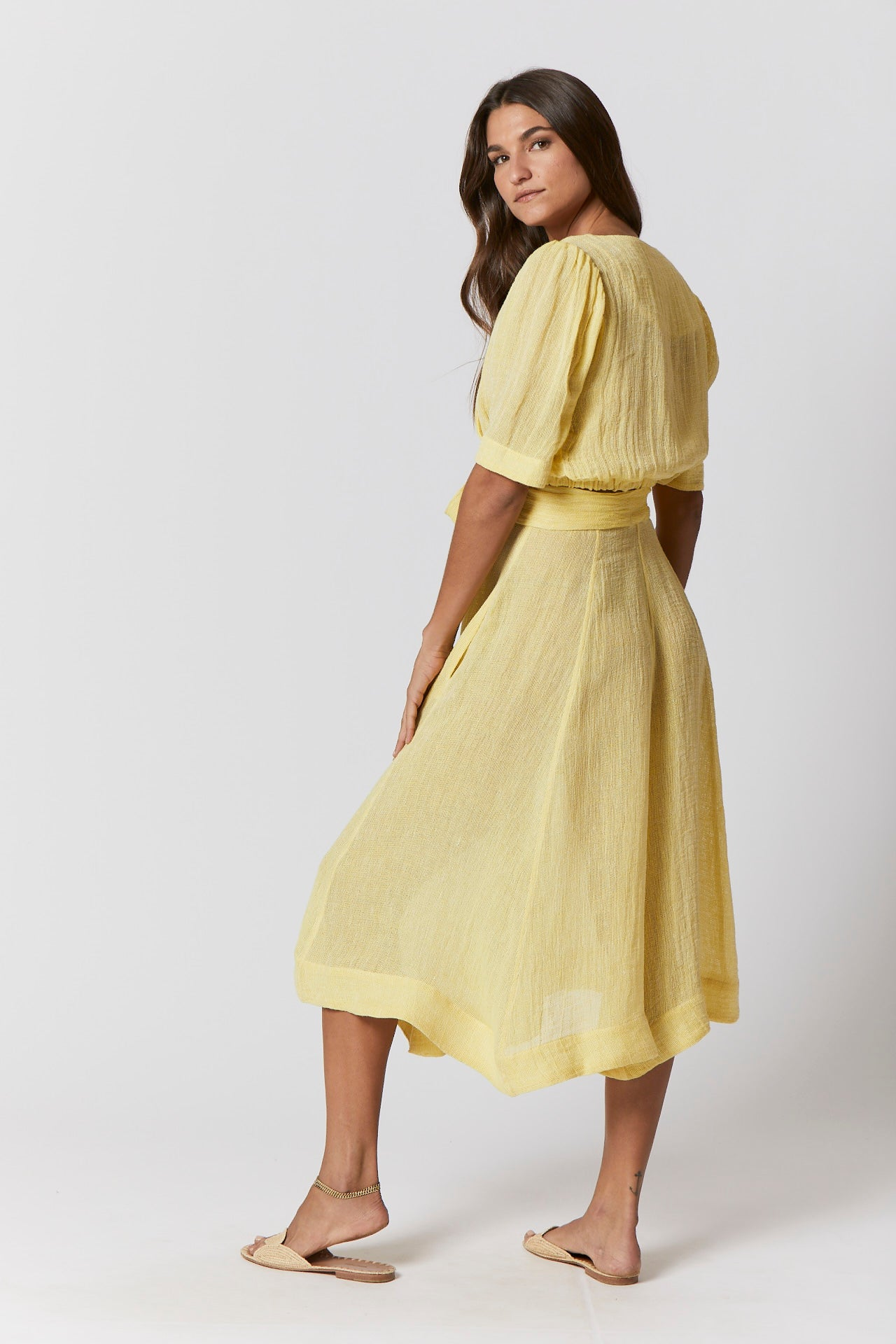 DIANA YELLOW CHIOS GAUZE SKIRT
