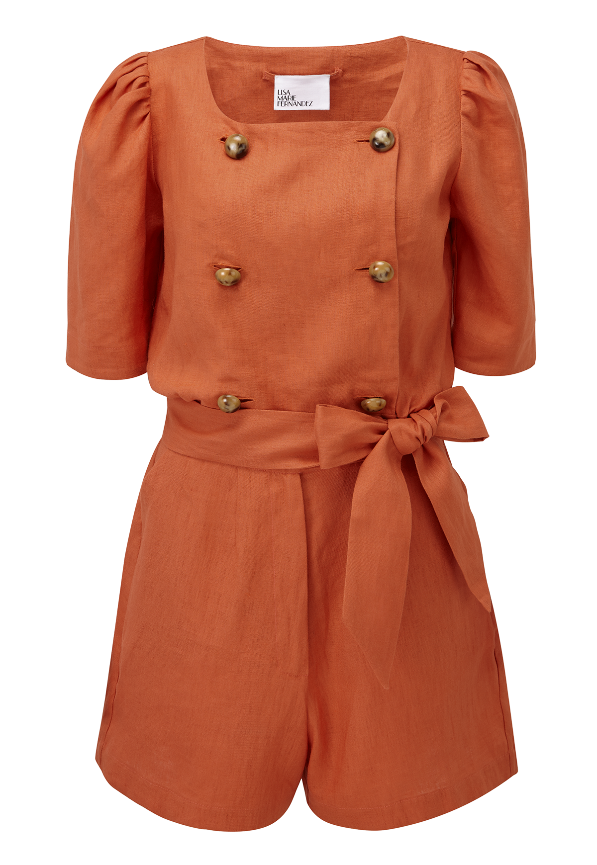 DIANA TERRACOTTA LINEN SHORT SUIT