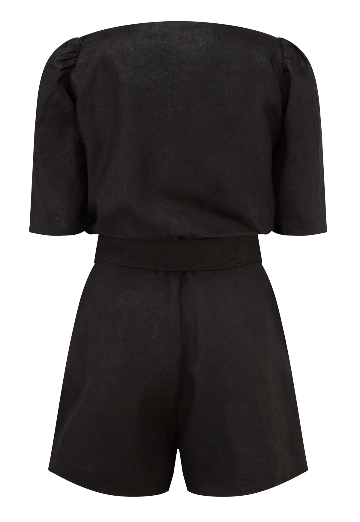 DIANA BLACK LINEN SHORT SUIT