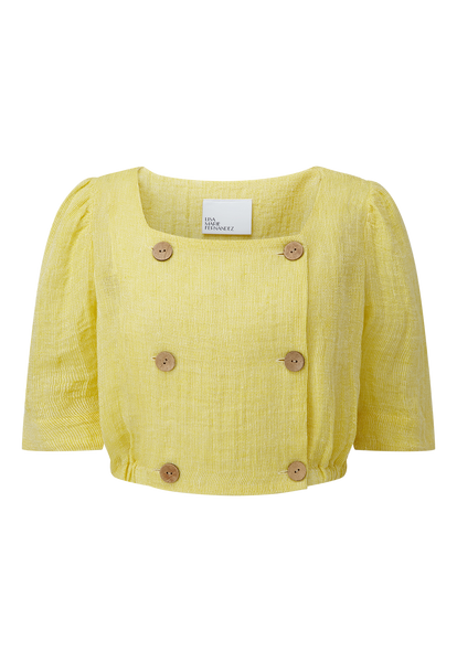 DIANA YELLOW CHIOS GAUZE TOP