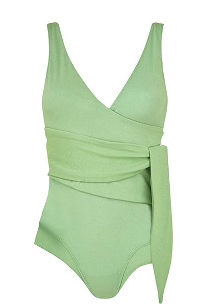 DREE LOUISE GREEN CREPE MAILLOT