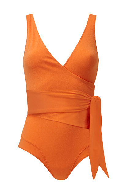 DREE LOUISE ORANGE CREPE MAILLOT