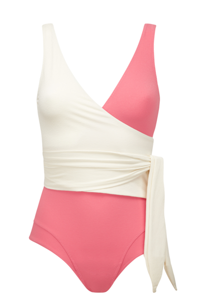 DREE LOUISE PINK CREPE MAILLOT