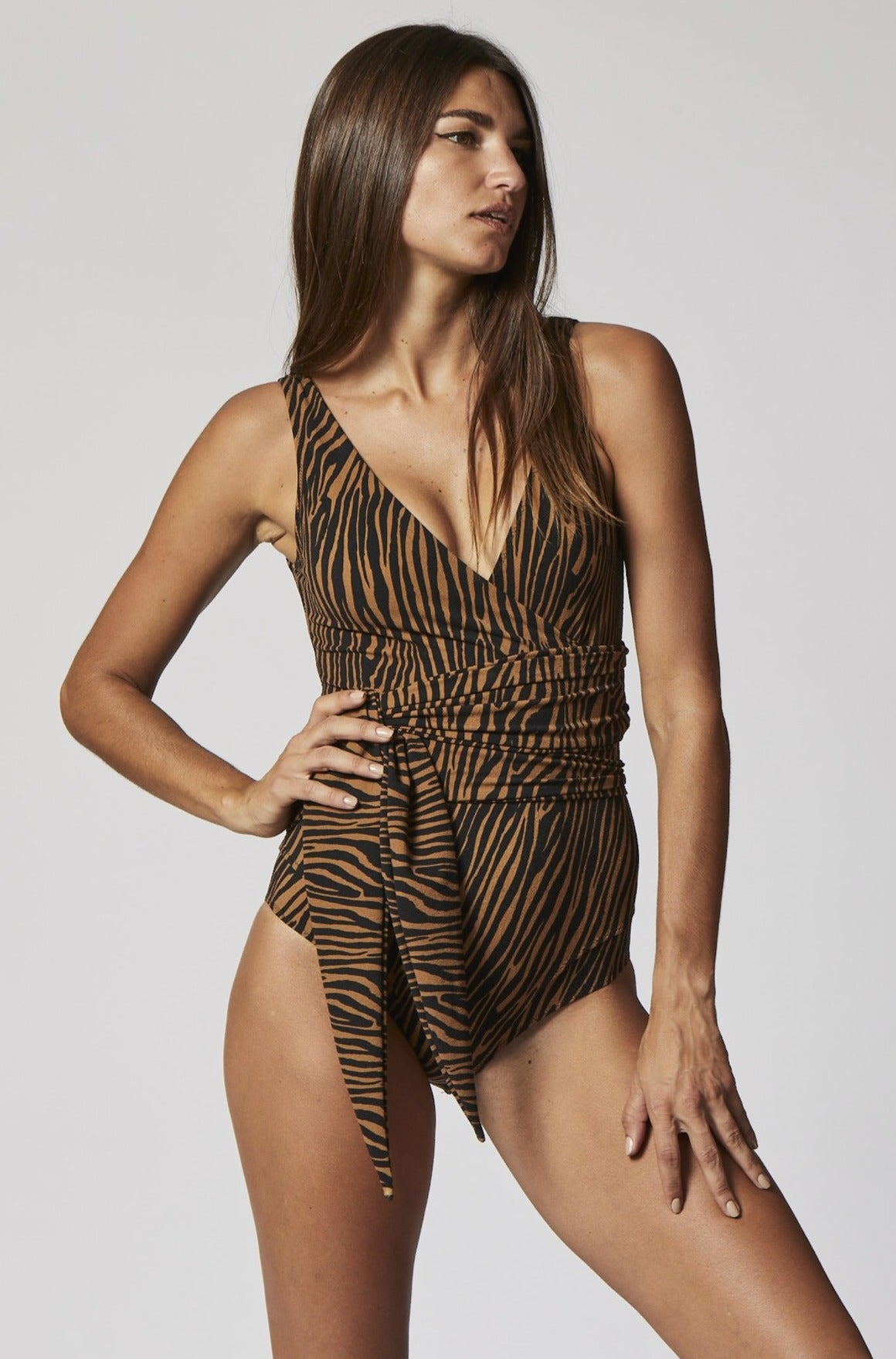 DREE LOUISE ZEBRA CREPE MAILLOT