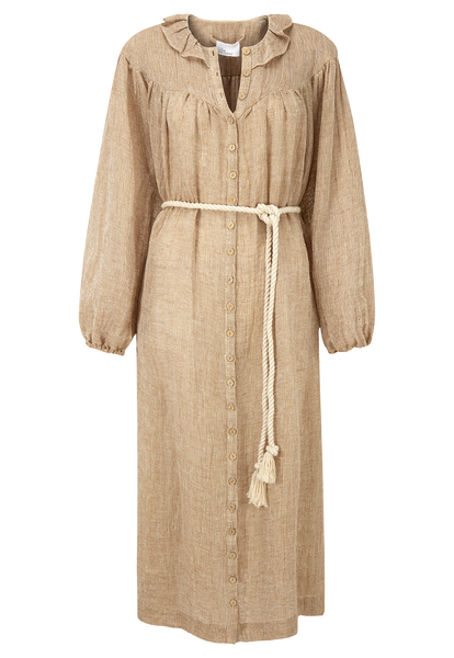 FIONA NATURAL CHIOS GAUZE DRESS