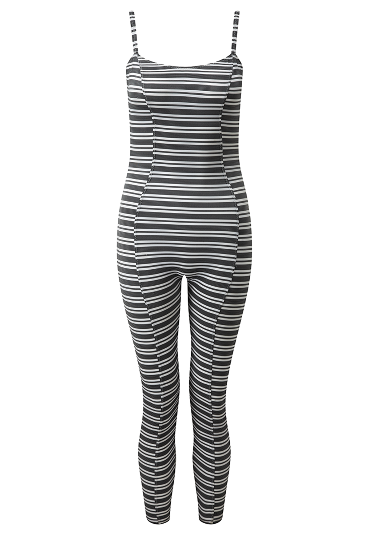 GENEVIEVE STRIPED SPORT CATSUIT