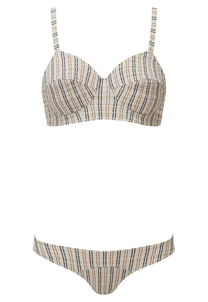 GOLDWYN SAND STRIPED SEERSUCKER BIKINI