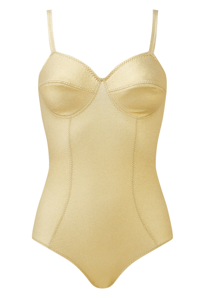 GOLDWYN GOLD METALLIC CREPE MAILLOT