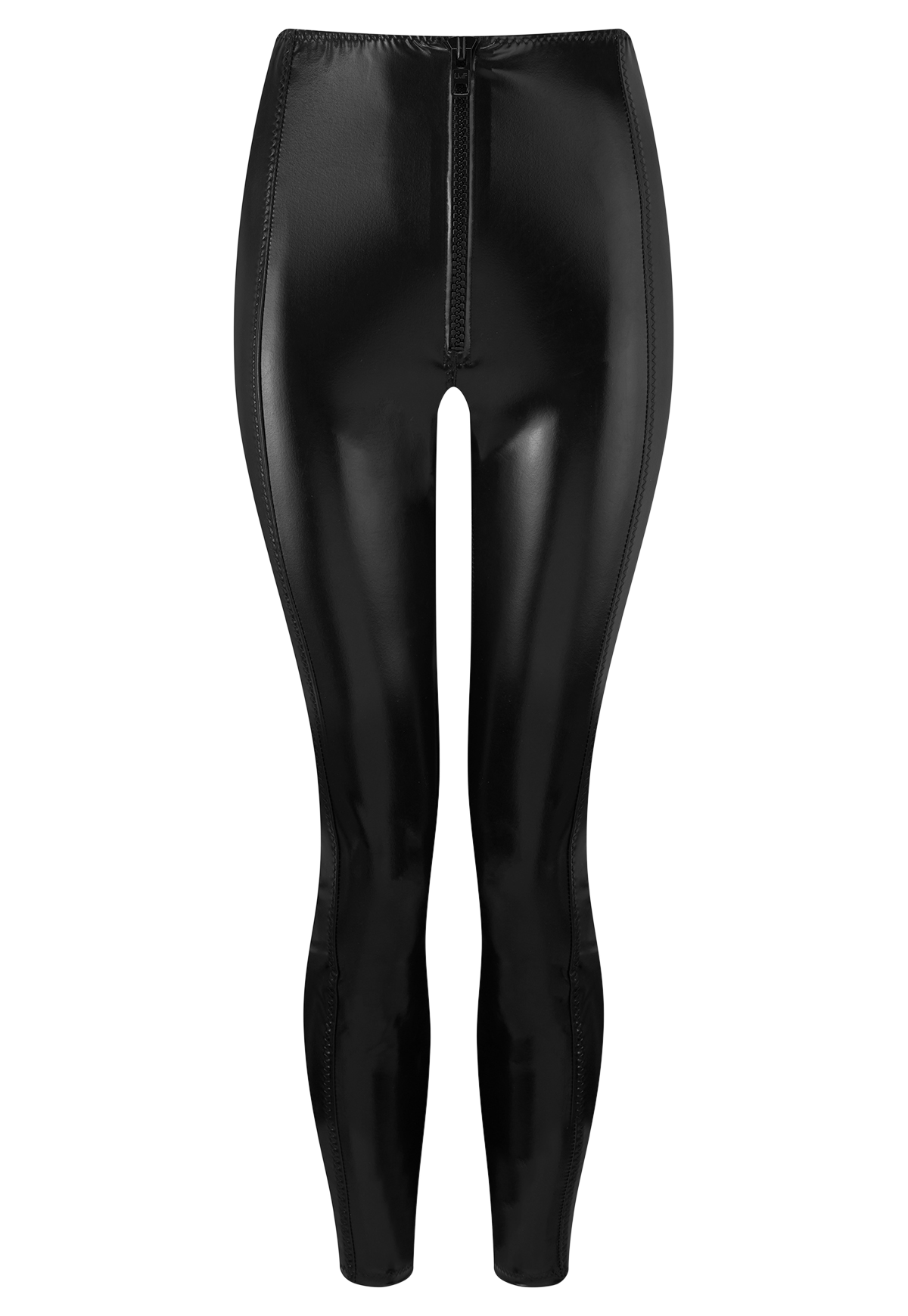 HANNAH BLACK PVC CROP LEGGING