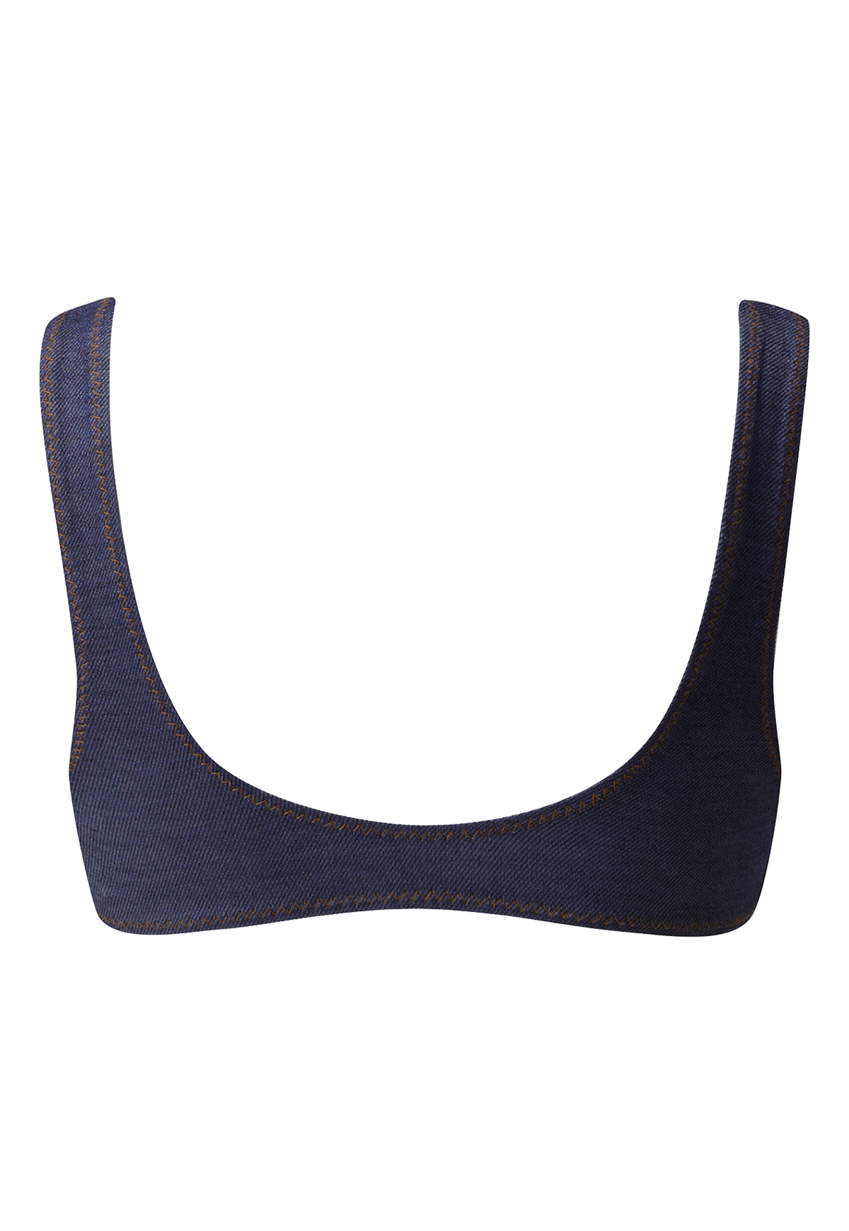 JASMINE INDIGO DENIM SPORT BRA TOP