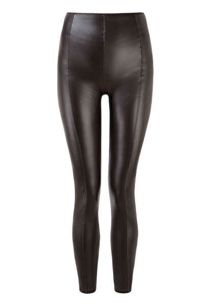 KARLIE CHOCOLATE VEGAN LEATHER LEGGING