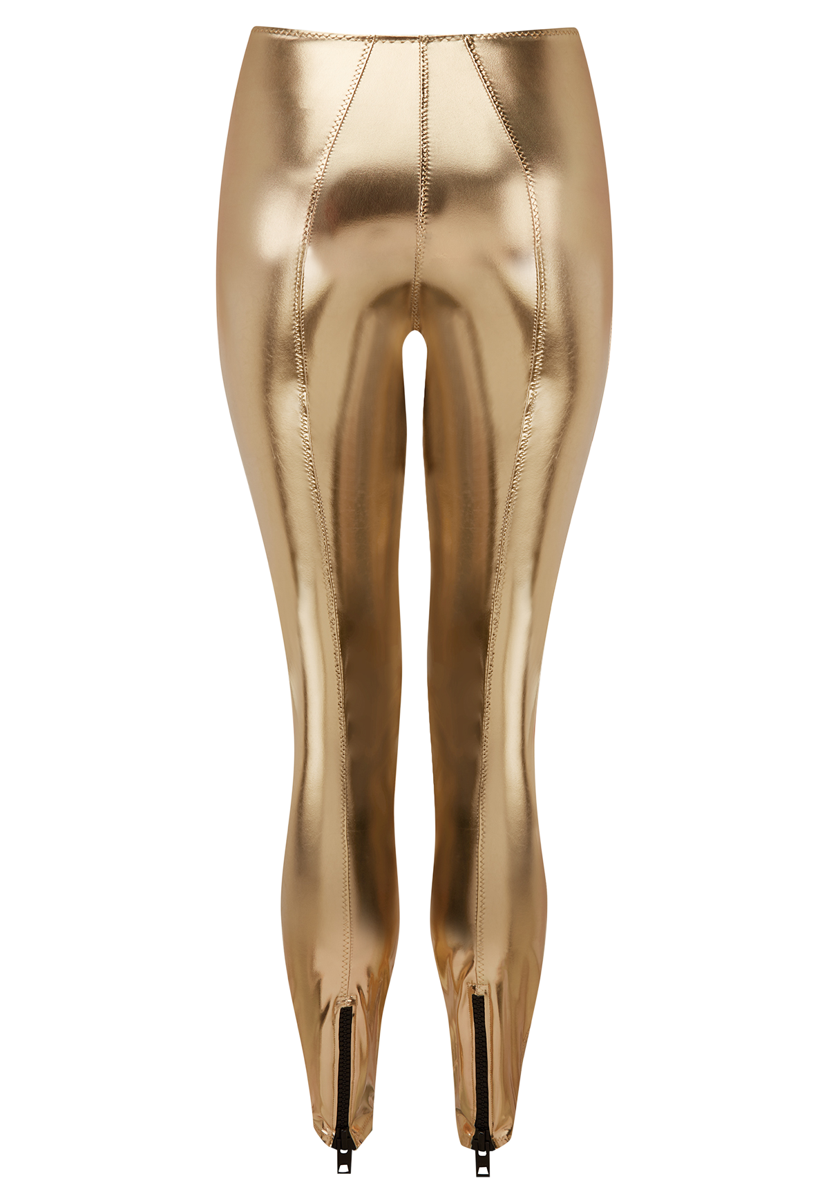 KARLIE WHITE GOLD METALLIC PVC LEGGING