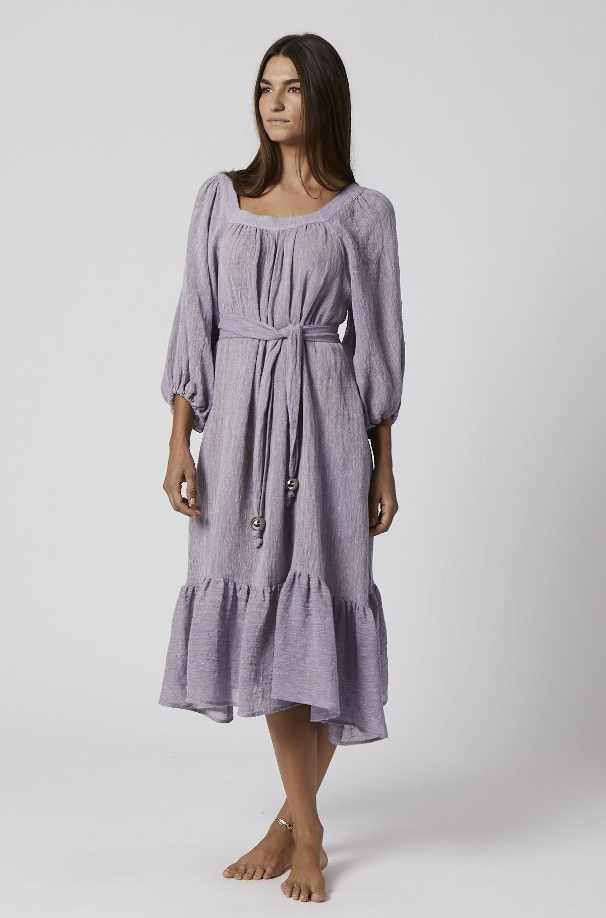 LAURE LAVENDER ORGANIC GAUZE DRESS