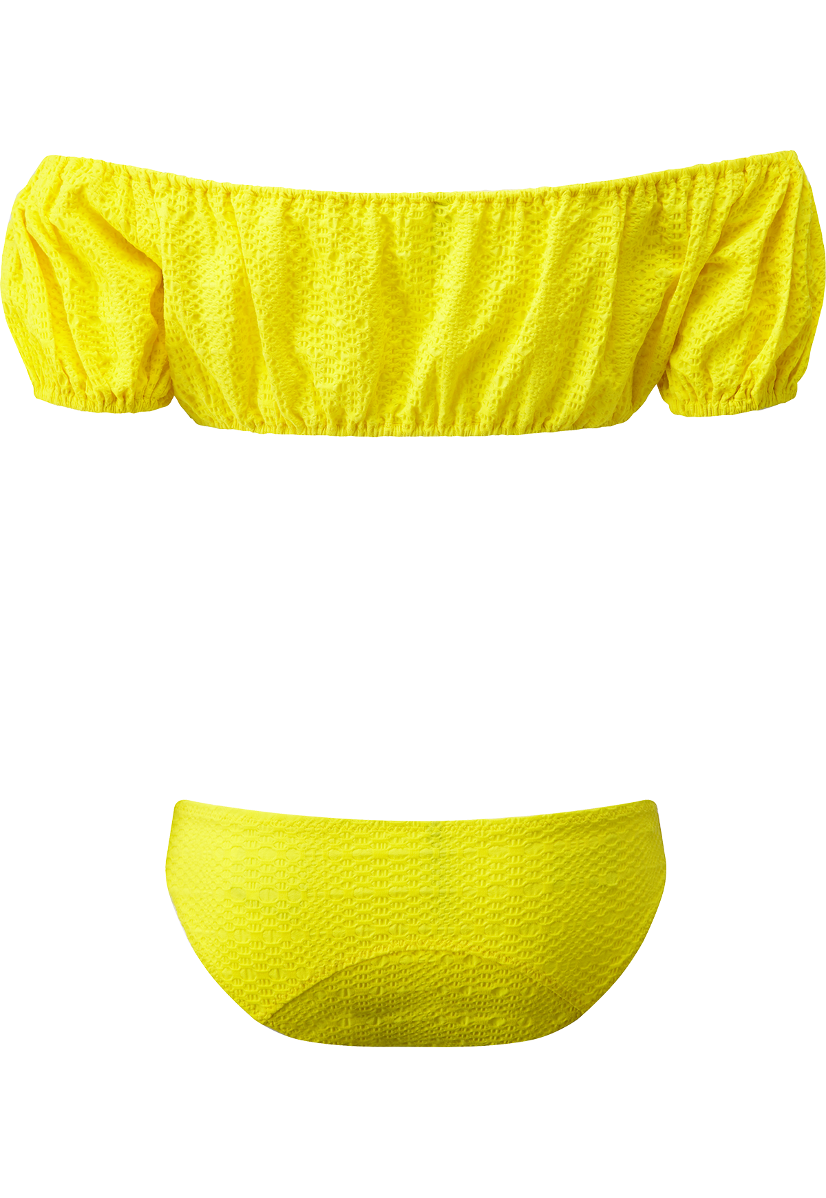 LEANDRA LEMON SEERSUCKER BUTTON BIKINI