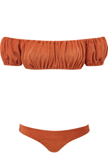 LEANDRA TERRACOTTA TERRY CLOTH BIKINI