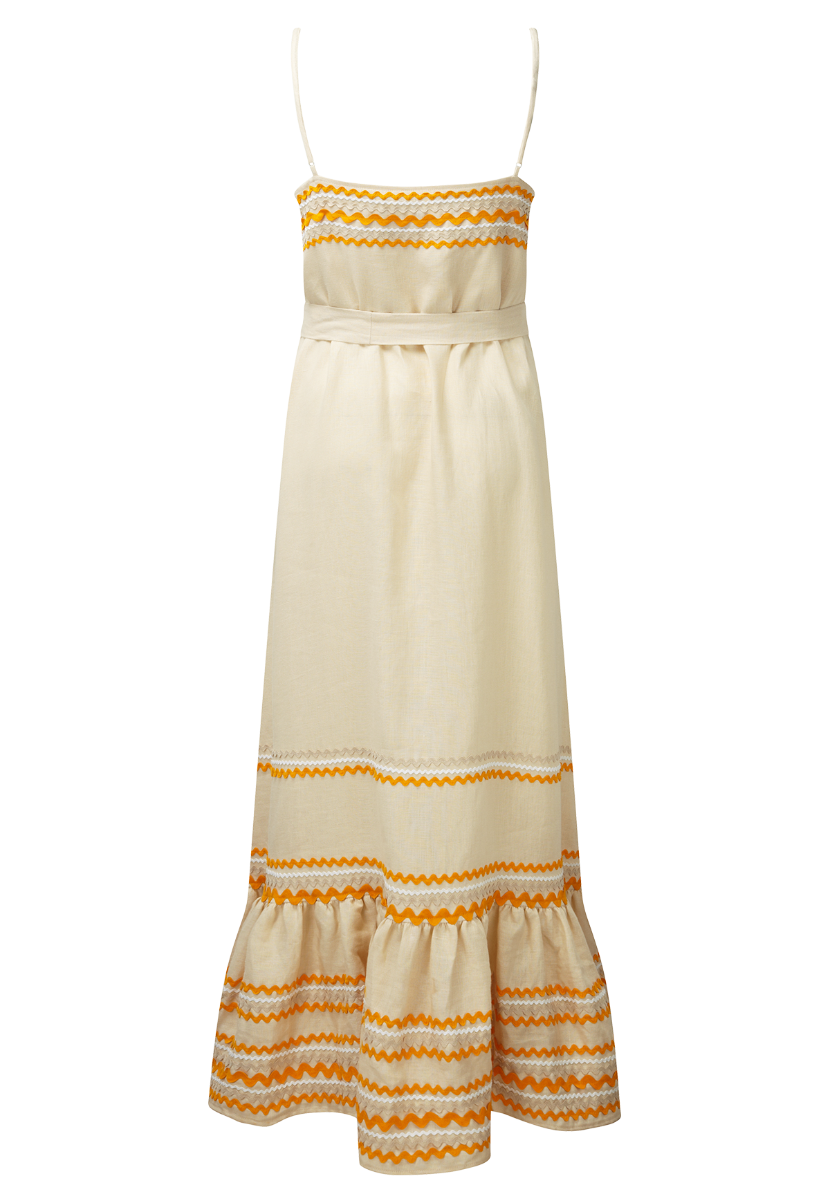 RIC RAC NATURAL LINEN SLIP DRESS