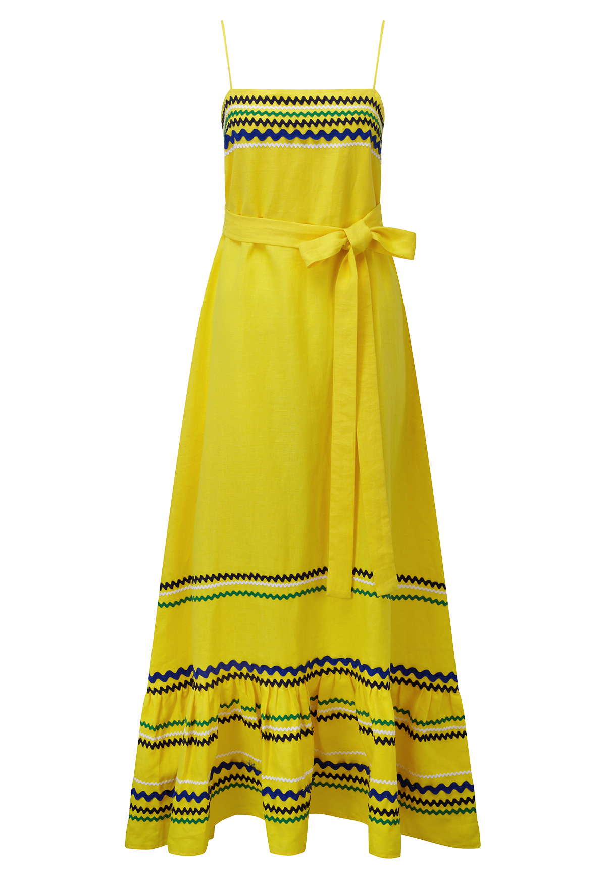 RIC RAC YELLOW LINEN SLIP DRESS
