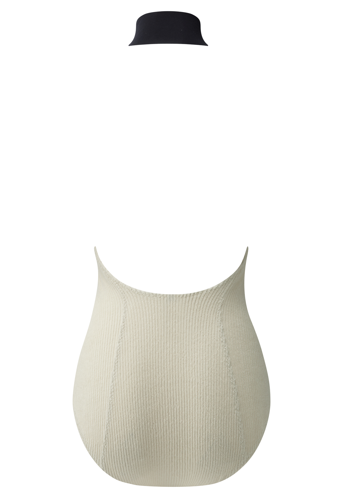 LISA MARIE CREAM RIBBED COTTON MAILLOT