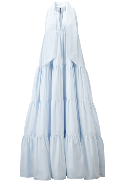 BABY DOLL BLUE COTTON MAXI DRESS