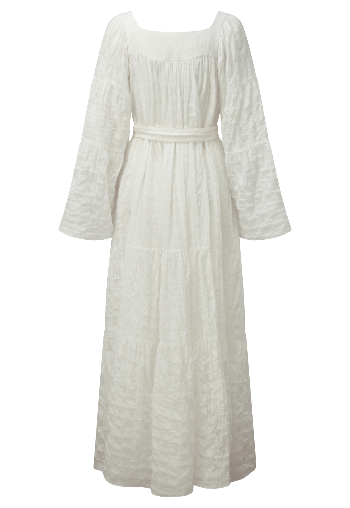 PEASANT WHITE COTTON MAXI DRESS