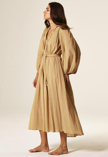 POET SAND COTTON MAXI DRESS