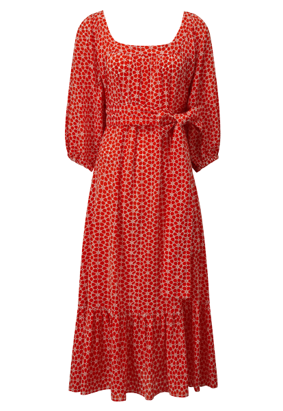 LAURE TOMATO DAISY EYELET DRESS