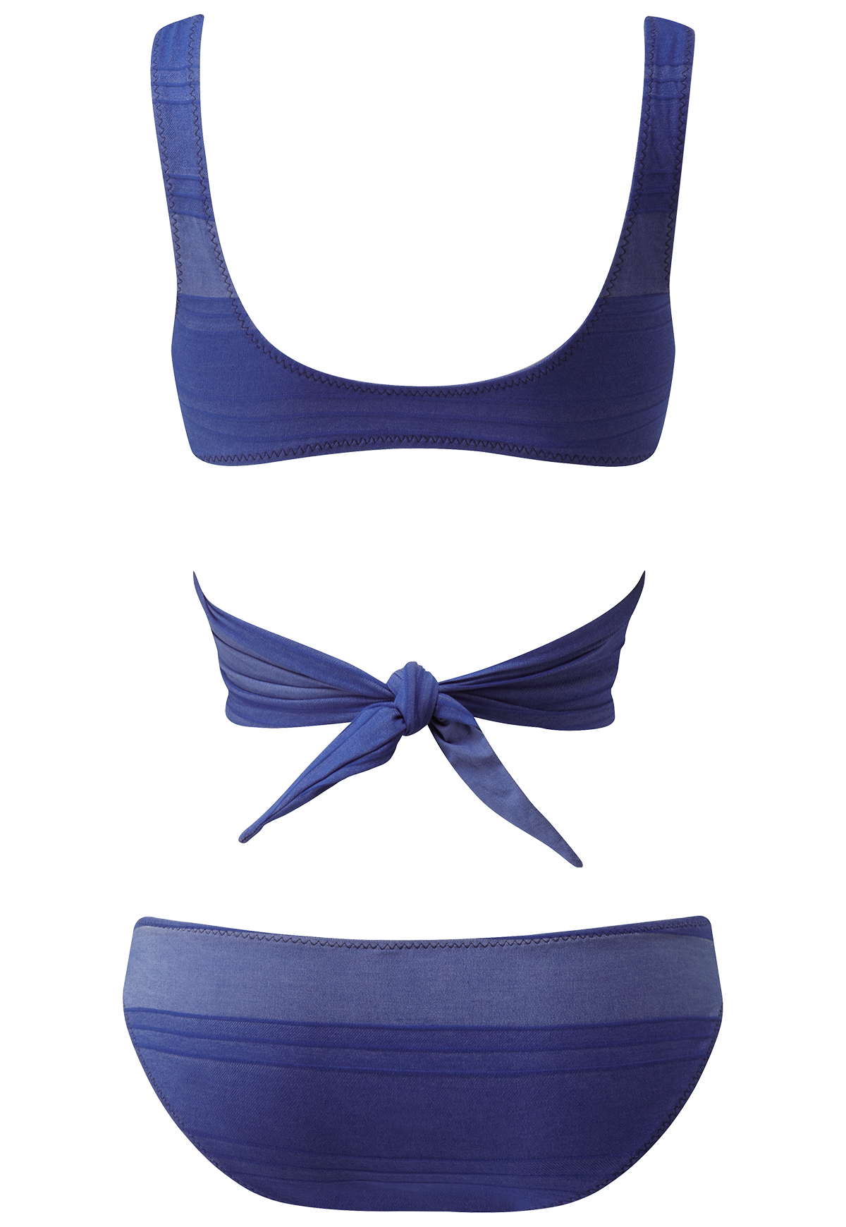 MARIE-LOUISE BLUE STRIPED COTTON BIKINI