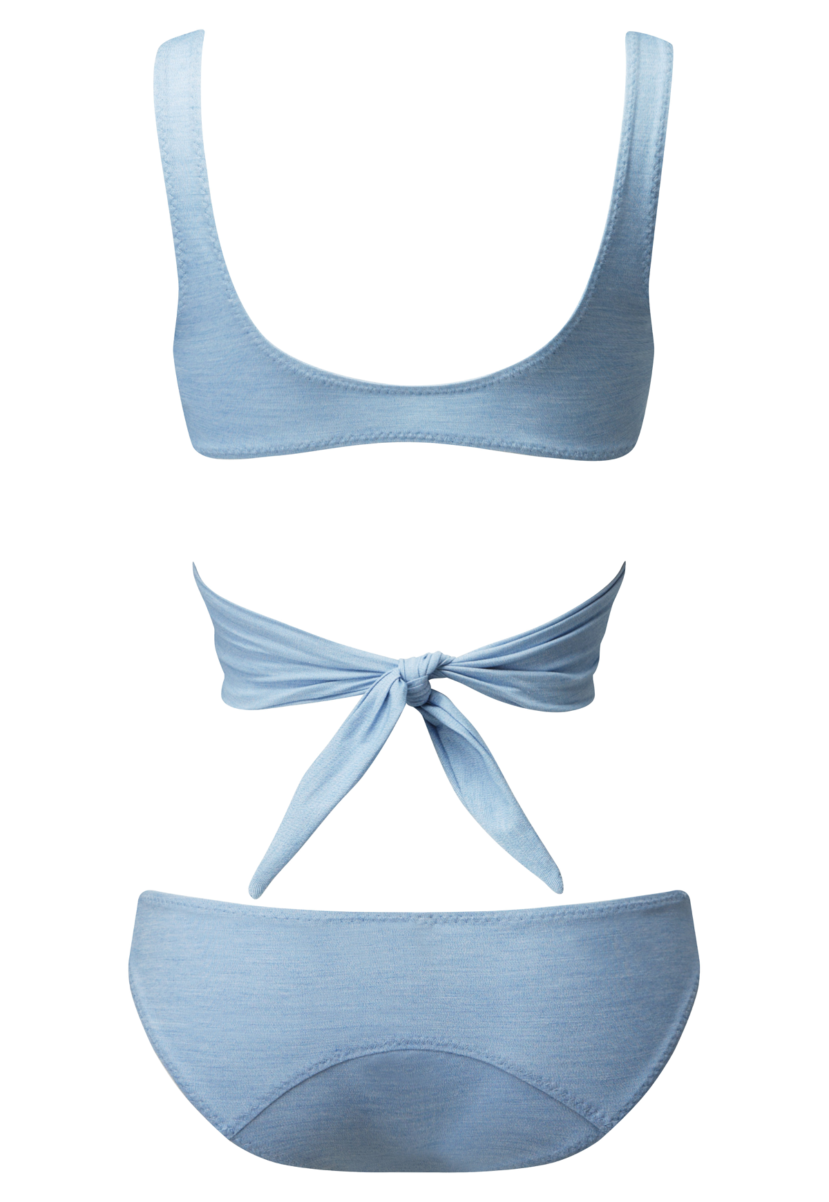 MARIE-LOUISE FADED DENIM BIKINI