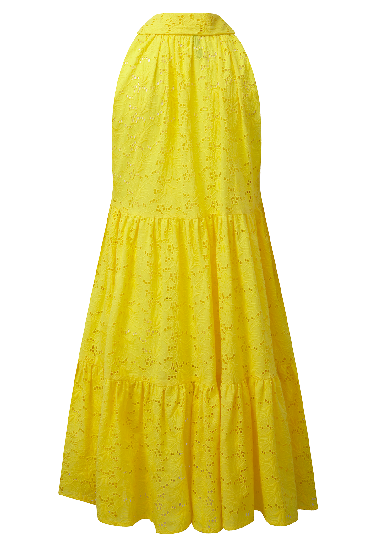 LEMON EYELET BABY DOLL MINI DRESS