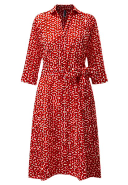 MINI TOMATO DAISY SHIRT DRESS