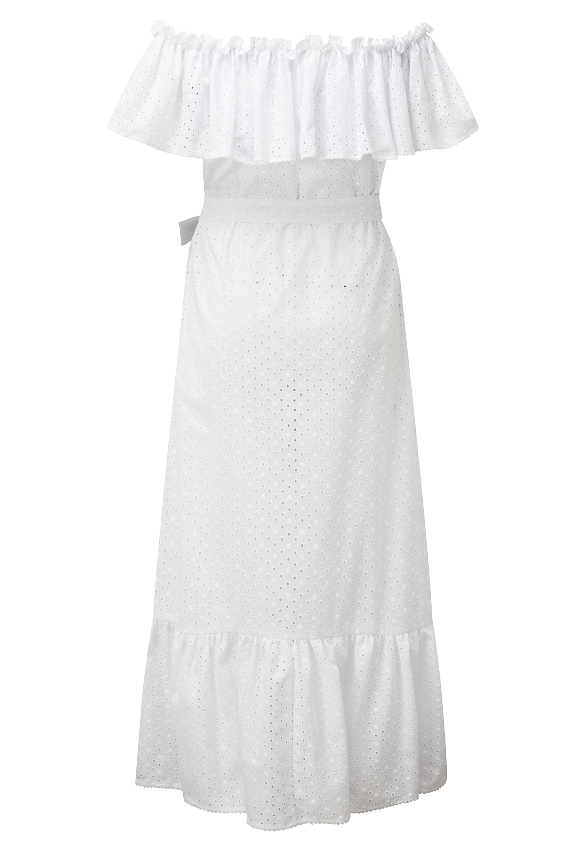 MIRA WHITE EYELET BUTTON DOWN DRESS