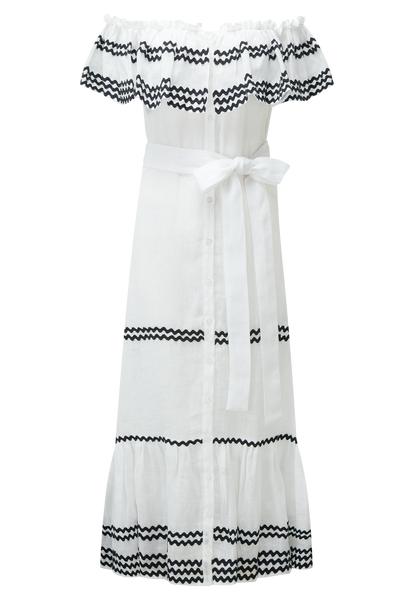 RIC RAC MIRA BUTTON DOWN SHEER LINEN DRESS