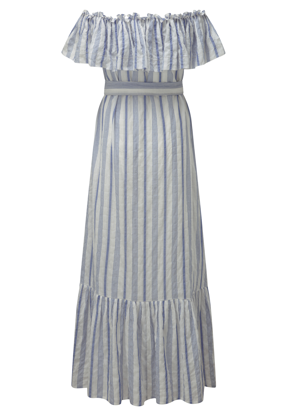MIRA BUTTON DOWN BLUE STRIPED DRESS