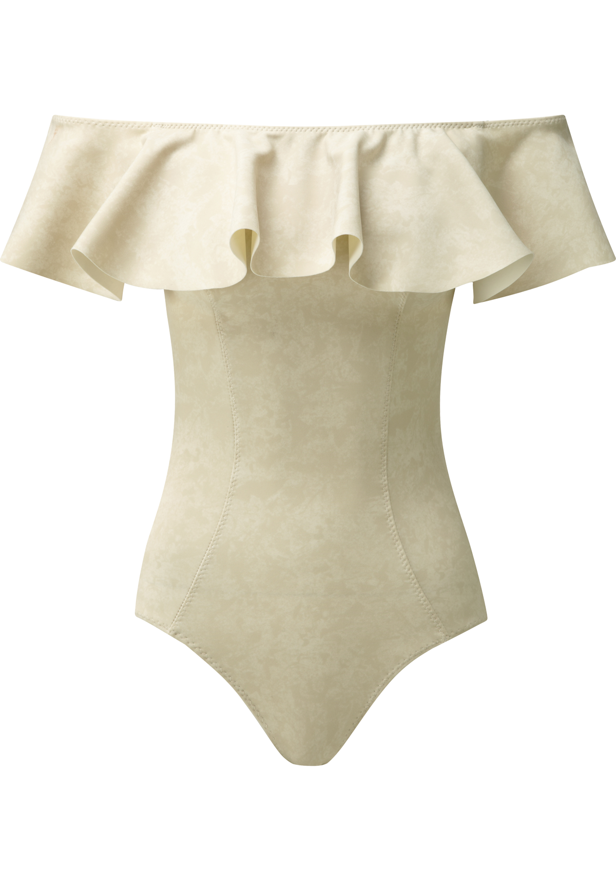 MIRA NATURAL SUEDED FLOUNCE MAILLOT