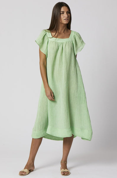 MUU MUU GREEN CHIOS GAUZE DRESS
