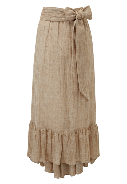 NICOLE NATURAL CHIOS GAUZE SKIRT