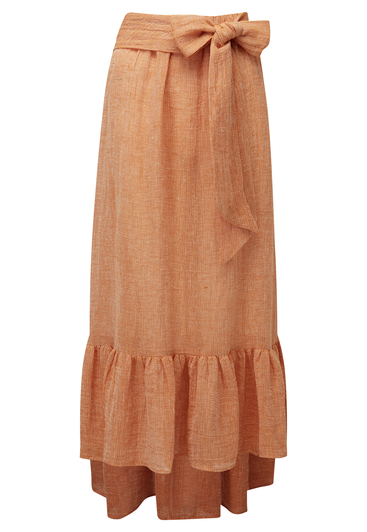 NICOLE ORANGE CHIOS GAUZE SKIRT