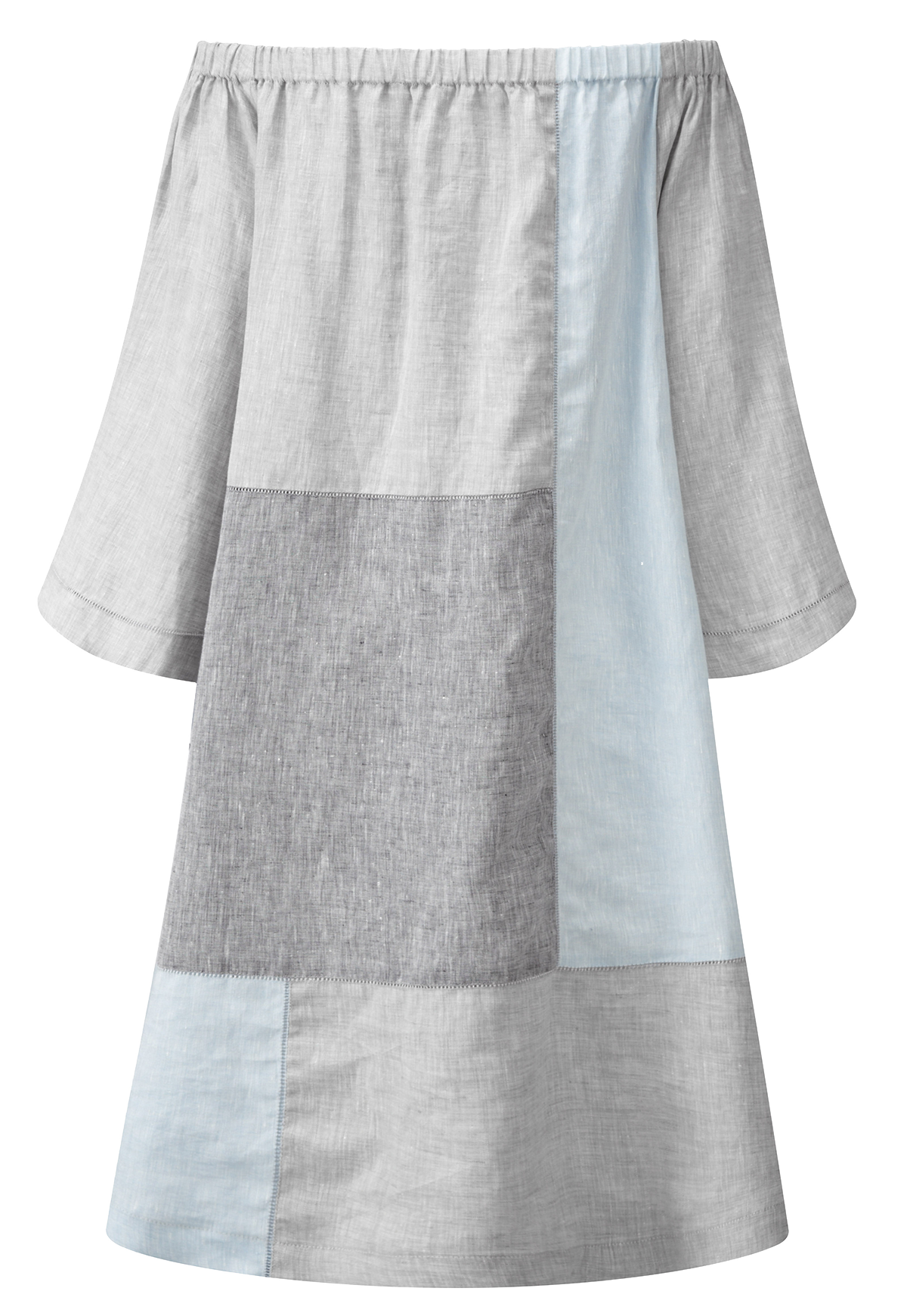 PATCHWORK LINEN DRESS