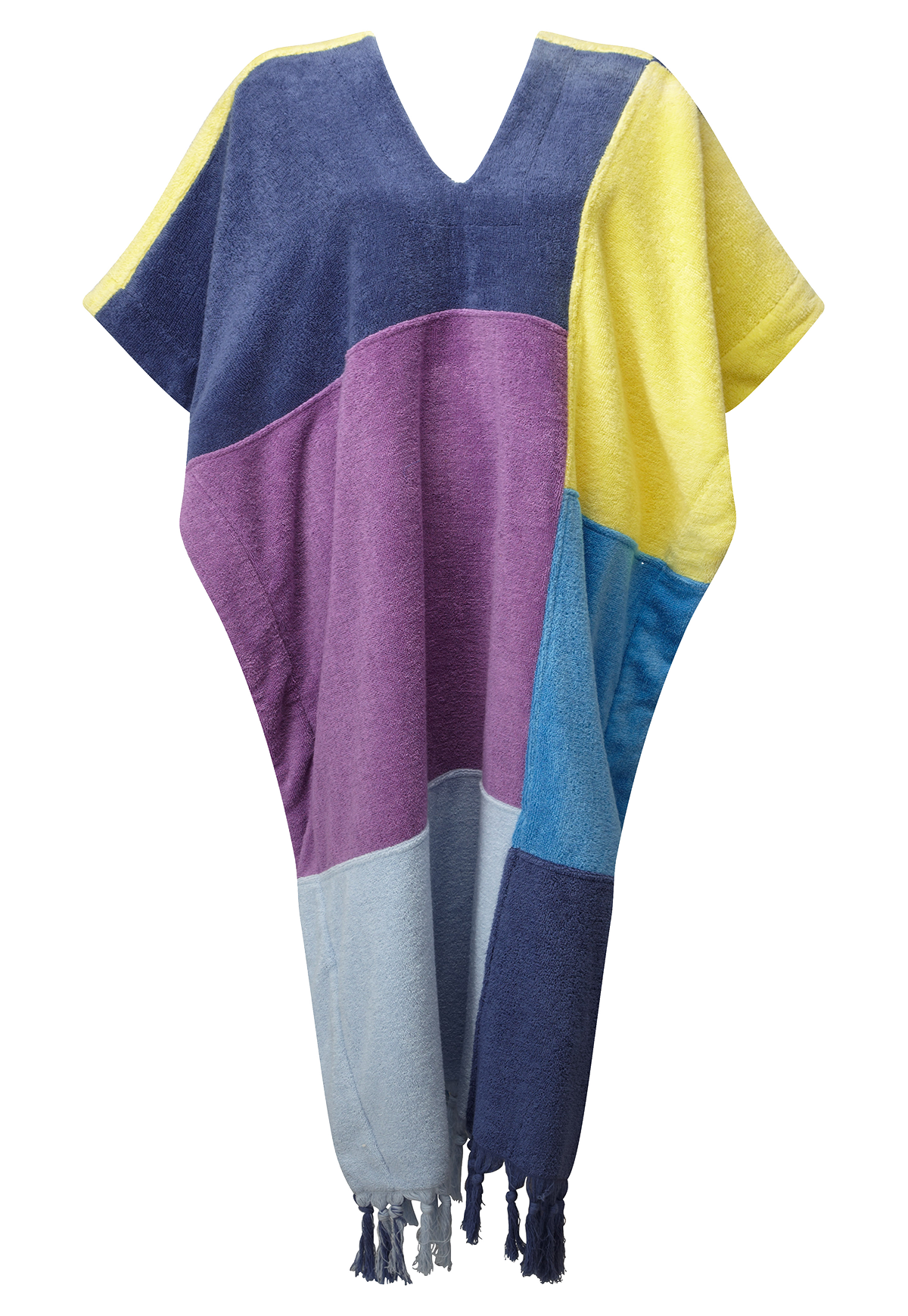 PATCHWORK TERRY CLOTH MINI TUNIC
