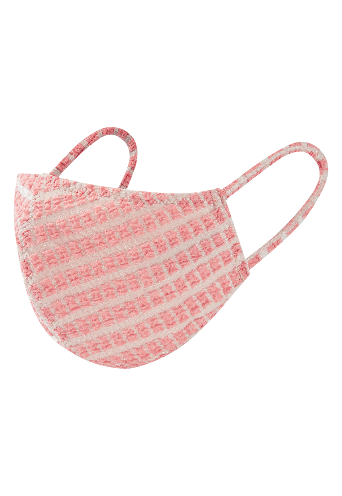 PINK METALLIC JACQUARD MASK