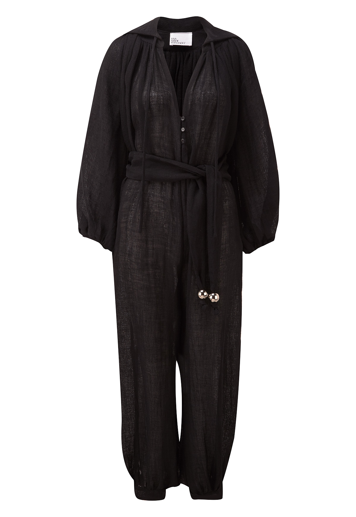 POET BLACK GAUZE JUMPSUIT