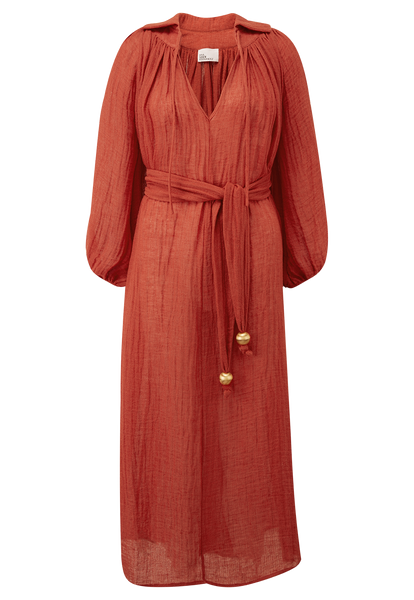 POET PAPRIKA GAUZE DRESS