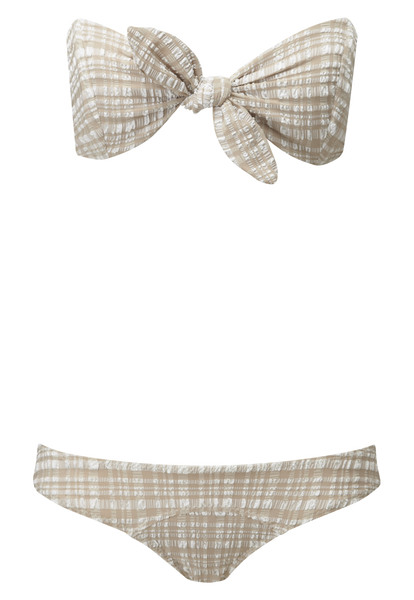 POPPY SAND PLAID BIKINI