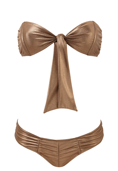 POPPY BRONZE RUCHED BIKINI