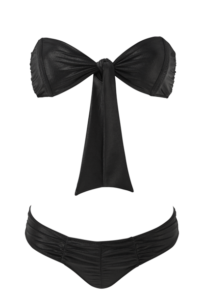 POPPY BLACK RUCHED BIKINI