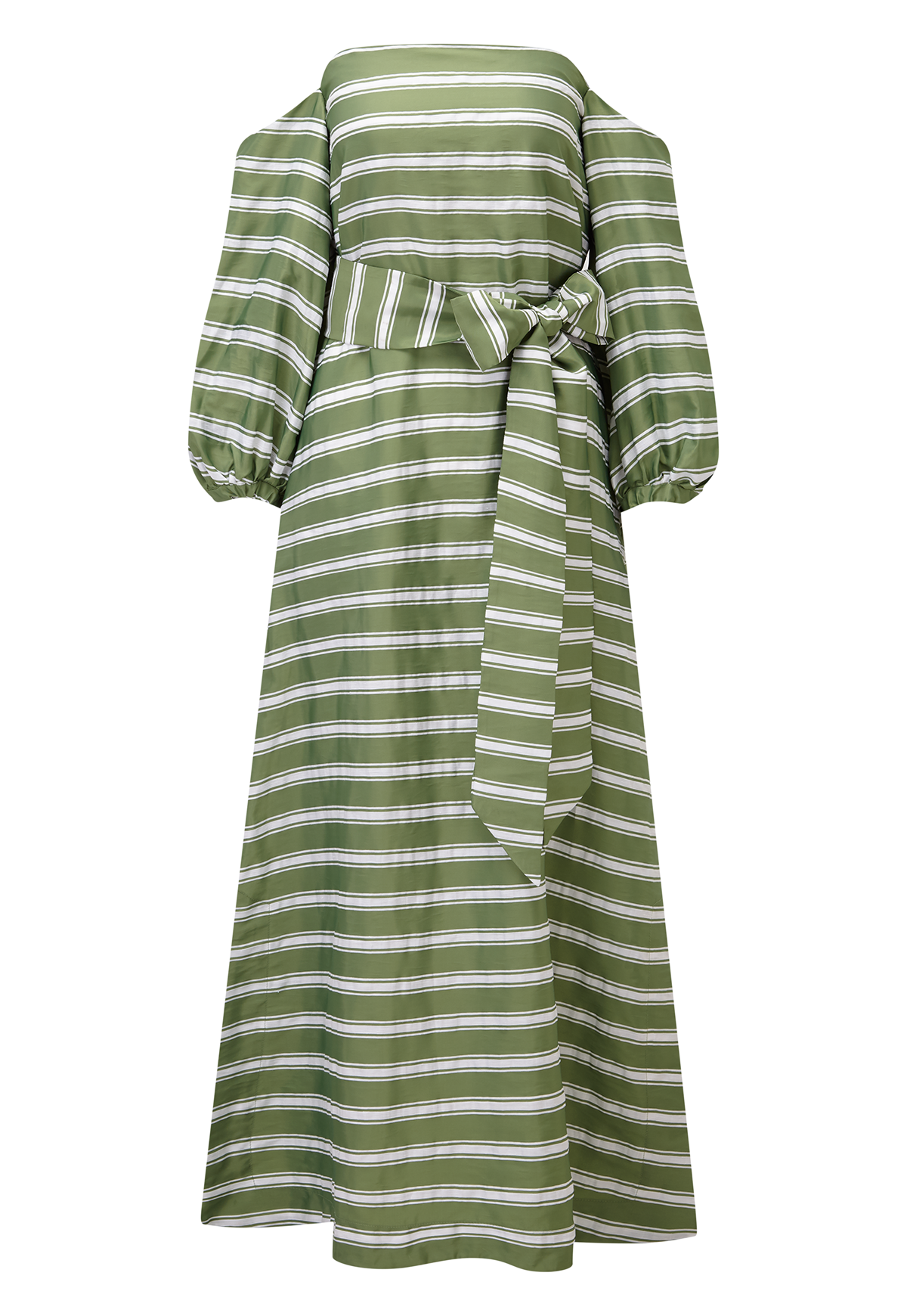 ROSIE GREEN STRIPED DRESS